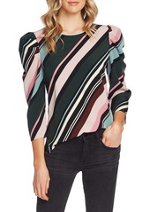 Vince Camuto Puff Shoulder Windsor Stripe Top