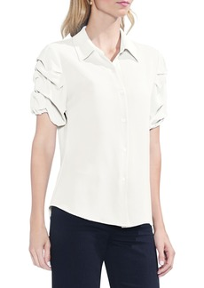 Vince Camuto Puff Sleeve Button Down Blouse (Regular & Petite)