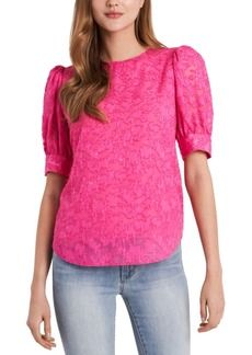 Vince Camuto Puff-Sleeve Jacquard Top