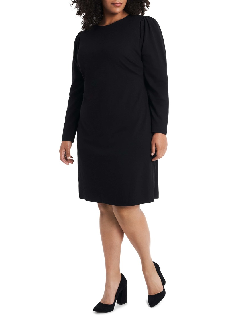 Vince Camuto Puff Sleeve Ponte Dress (Plus Size)