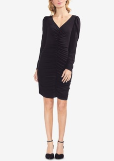 Vince Camuto Puff-Sleeve Ruched Dress