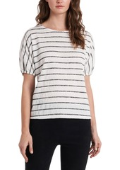 Vince Camuto Puff-Sleeve Smocked Knit Top
