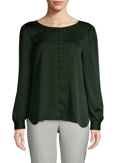 Vince Camuto Puffed-Sleeve Roundneck Top