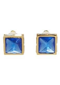 Vince Camuto Pyramid Button Clip Earrings