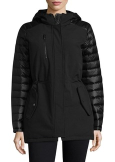 Vince Camuto Quilted Hooded Down Jacket
