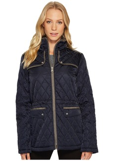 Quilted Jacket with Faux Suede Contrast Detail N8841