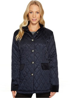 Quilted Jacket with Velvet Trim N8621