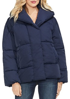 VINCE CAMUTO Quilted Matte Hooded Jacket