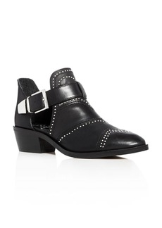 VINCE CAMUTO Raina Studded Low Heel Booties