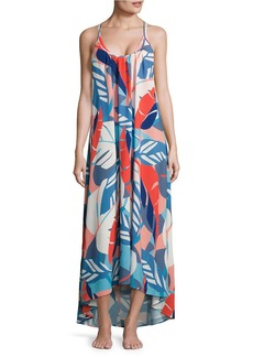 VINCE CAMUTO Rainforest Printed Maxi Coverup Dress