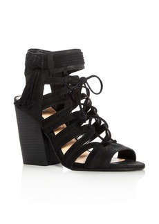 VINCE CAMUTO Ranata Caged Lace Up High Heel Sandals