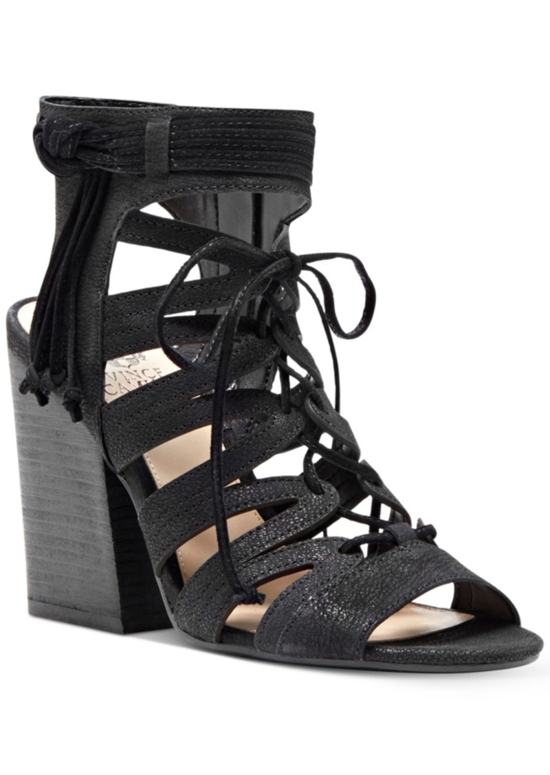Vince Camuto Ranata Lace-Up Block-Heel Sandals Women's Shoes