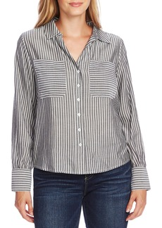 Vince Camuto Refresh Pinstripe Two-Pocket Button-Up Shirt