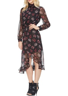 Vince Camuto Regal Stamp Floral Maxi Dress