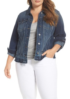 Vince Camuto Release Hem Denim Jacket (Plus Size)