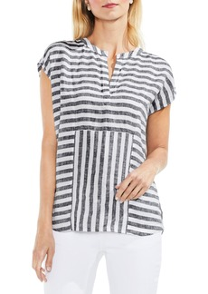 Vince Camuto Resort Stripe Linen Blouse