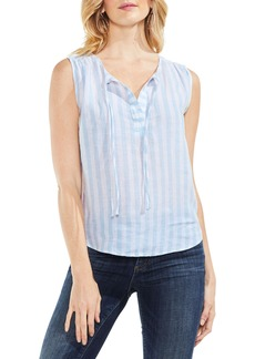 Vince Camuto Resort Stripe Tie Neck Blouse