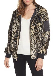 Vince Camuto Reversible Hooded Faux Fur Bomber Jacket