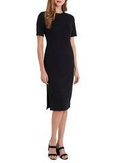 Vince Camuto Rib Knit Short Sleeve Dress
