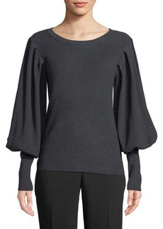 Vince Camuto Ribbed Balloon Sleeve Sweater