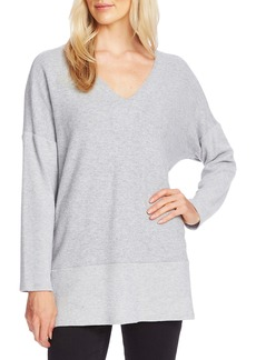 Vince Camuto Ribbed Detail Tunic Sweater