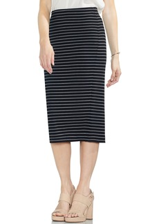 Vince Camuto Ribbed Stripe Pencil Skirt