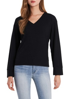 Vince Camuto Ribbed V-Neck Top