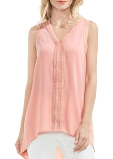 Vince Camuto Ribbon Trim High/Low Blouse