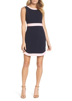 Vince Camuto Ringer Trim Scuba Crepe Dress