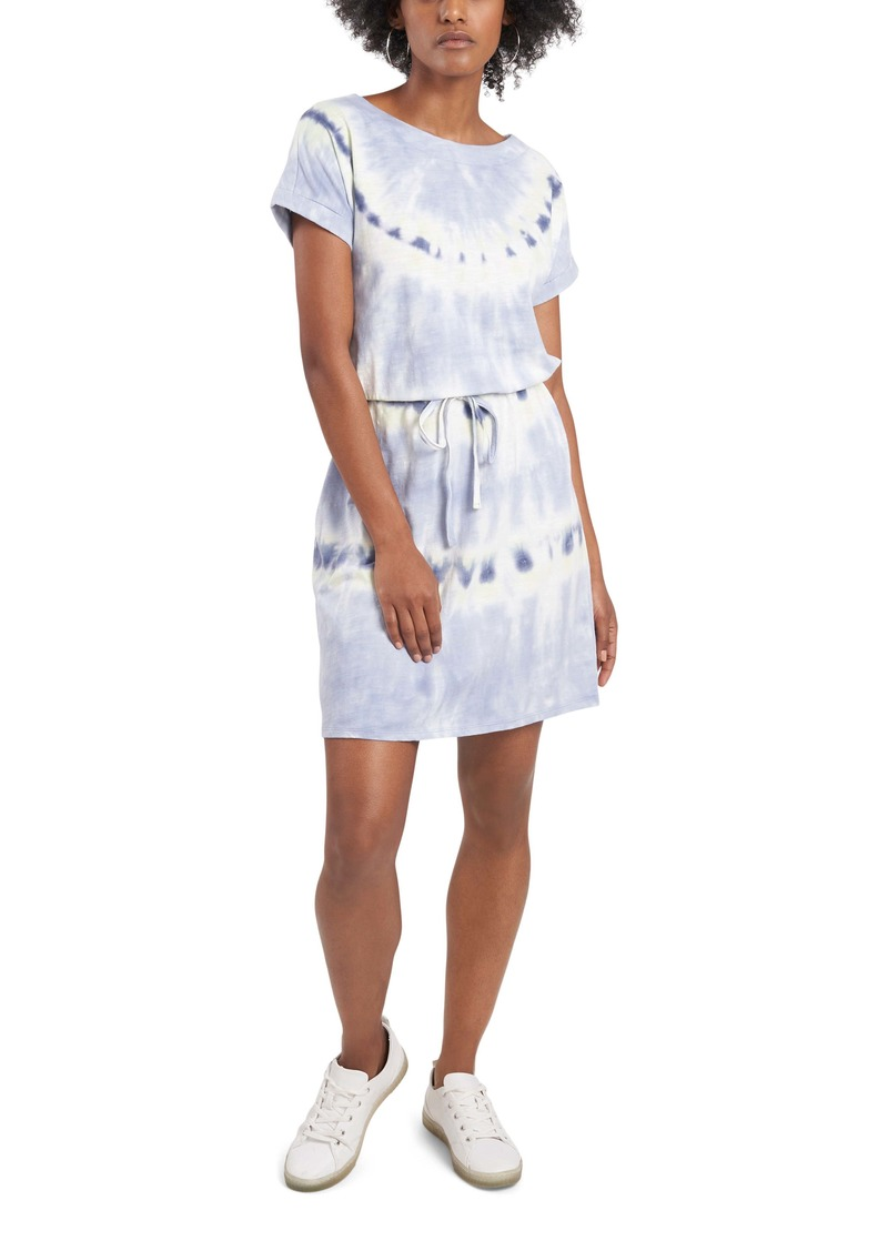 Vince Camuto Ripple Tie Dye Cotton Blend Knit Dress