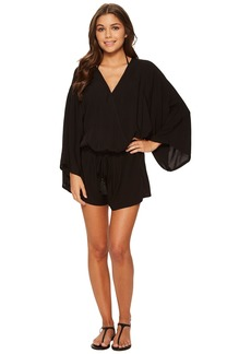 Vince Camuto Riviera Solids Cover-Up Romper