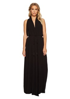 Vince Camuto Riviera Solids Wrap Maxi Cover-Up Dress