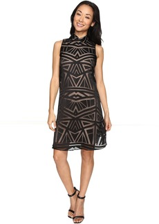 Vince Camuto Roll Collar Float w/ Fitted Under Dress