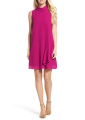 Vince Camuto Roll Neck Chiffon Dress