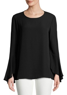Vince Camuto Roundneck Bell Sleeve Blouse