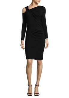 Vince Camuto Ruched Cold-Shoulder Bodycon Dress