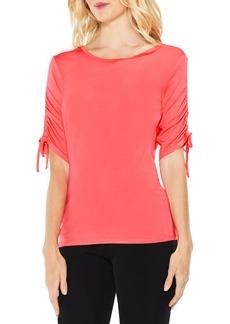 Vince Camuto Ruched Elbow Sleeve Top (Regular & Petite)
