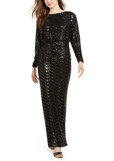 Vince Camuto Ruched Glitter Gown