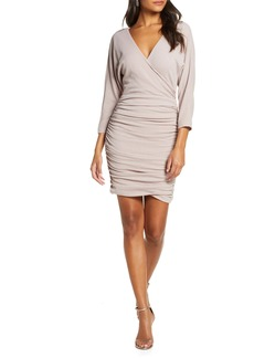 Vince Camuto Ruched Glitter Knit Dress