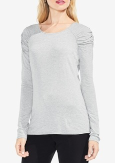 Vince Camuto Ruched-Shoulder Top
