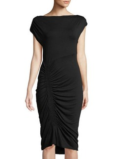 Vince Camuto Ruched-Skirt Midi Dress