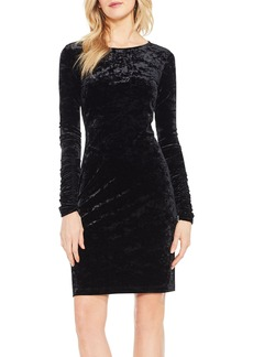 Vince Camuto Ruched Sleeve Crushed Velvet Dress