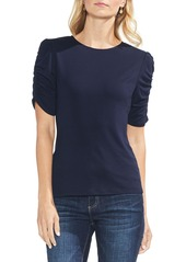 Vince Camuto Ruched Sleeve Knit Top