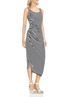 VINCE CAMUTO Ruched Stripe Midi Dress