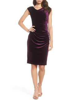 Vince Camuto Ruched Velvet Body-Con Dress (Regular & Petite)