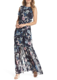 Vince Camuto Ruffle Chiffon Maxi Dress (Regular & Petite)