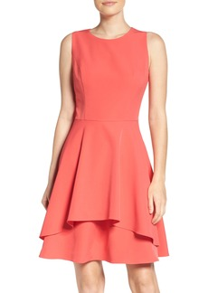 Vince Camuto Ruffle Fit & Flare Dress