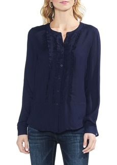 Vince Camuto Ruffle Front Button Up Top