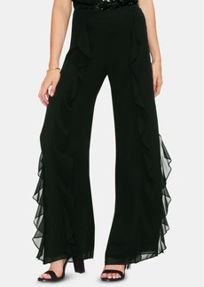 Vince Camuto Ruffle Front Wide Leg Pants