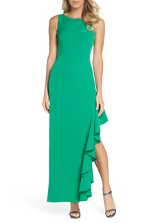 Vince Camuto Ruffle Gown (Regular & Petite)